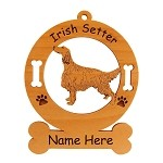 3371 Irish Setter Standing #2 Ornament Personalized with Your Dog's Name