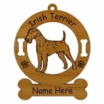 3381 Irish Terrier Standing Ornament Personalized with Your Dog's Name