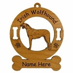 3390 Irish Wolfhound Standing Ornament Personalized with Your Dog's Name