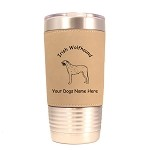 3390 Irish Wolfhound Standing #1 20 oz Polar Camel Tumbler with Lid Personalized with Your Dog's Name
