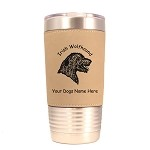 3391 Irish Wolfhound Head #1 20 oz Polar Camel Tumbler with Lid Personalized with Your Dog's Name
