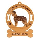 3399 Irish Water Spaniel Standing #2 Ornament Personalized with Your Dog's Name