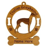 3406 Italian Greyhound Standing Ornament Personalized with Your Dog's Name
