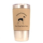 3406 Italian Greyhound Standing #1 20 oz Polar Camel Tumbler with Lid Personalized with Your Dog's Name