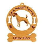 3414 Jack Russell Standing #2 Ornament Personalized with Your Dog's Name