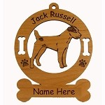 3415 Jack Russell Parsons Standing Ornament Personalized with Your Dog's Name