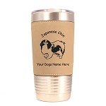 3425 Japanese Chin Standing #1 20 oz Polar Camel Tumbler with Lid Personalized with Your Dog's Name