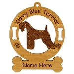 3445 Kerry Blue Terrier Standing Ornament Personalized with Your Dog's Name