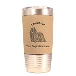 3459 Komondor Standing #1 20 oz Polar Camel Tumbler with Lid Personalized with Your Dog's Name