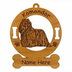 3459 Komondor Standing Ornament Personalized with Your Dog's Name