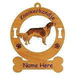 3462 Kooikerhondje Standing Ornament Personalized with Your Dog's Name