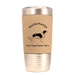 3462 Kooikerhondje Standing #1 20 oz Polar Camel Tumbler with Lid Personalized with Your Dog's Name