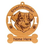 3465  Kromfohrlander Head Ornament Personalized with Your Dog's Name