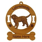 3472 Labradoodle Standing Ornament Personalized with Your Dog's Name
