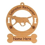 3475 Labrador Gaiting Ornament Personalized with Your Dog's Name