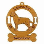 3478 Labrador Retreiver #2 Standing Ornament Personalized with Your Dog's Name