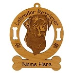 3481 Labrador Retreiver Head #2 Ornament Personalized with Your Dog's Name
