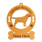3482 Labrador Retriever Standing #5 Ornament Personalized with Your Dog's Name