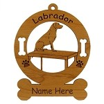 3487 Labrador Retreiver Table Ornament Personalized with Your Dog's Name