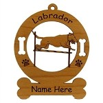 3488 Labrador Retreiver Bar Jump Ornament Personalized with Your Dog's Name