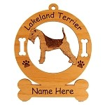 3493 Lakeland Terrier Standing #2 Ornament Personalized with Your Dog's Name