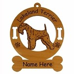 3494 Lakeland Terrier Standing Ornament Personalized with Your Dog's Name