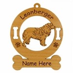 3496 Leonberger Standing Ornament Personalized with Your Dog's Name
