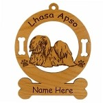 3499 Lhasa Apso Standing Ornament Personalized with Your Dog's Name