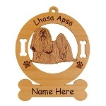 3501 Lhasa Apso Standing #3 Ornament Personalized with Your Dog's Name