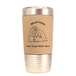 3529 Maltese Standing #1 20 oz Polar Camel Tumbler with Lid Personalized with Your Dog's Name