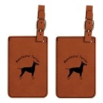 Manchester Terrier Luggage Tag 2 Pack L3536