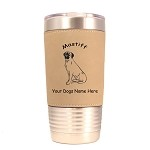 3547 Mastiff Sitting #1 20 oz Polar Camel Tumbler with Lid Personalized with Your Dog's Name