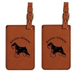 Miniature Schnauzer Cropped Ears Luggage Tag 2 Pack L3555
