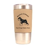 3555 Miniature Schnauzer Cropped Standing #1 20 oz Polar Camel Tumbler with Lid Personalized with Your Dog's Name