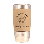 3556 Miniature Schnauzer Standing #2 20 oz Polar Camel Tumbler with Lid Personalized with Your Dog's Name