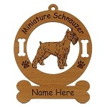 3556 Mini Schnauzer Standing #2  Ornament Personalized with Your Dog's Name