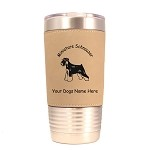 3557 Miniature Schnauzer Uncropped Standing #1 20 oz Polar Camel Tumbler with Lid Personalized with Your Dog's Name