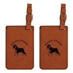 Miniature Schnauzer Uncropped Ears Luggage Tag 2 Pack L3557