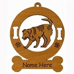 3569 Mixed Breed Dog Ornament Personalized with Your Dog's Name