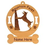 3574 Mountain Feist Treeing  Ornament Personalized with Your Dog's Name
