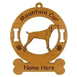 3577 Mountain Cur Standing  Ornament Personalized with Your Dog's Name