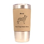3582 Mudi Standing 20 oz Polar Camel Tumbler with Lid Personalized with Your Dog's Name