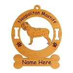 3589 Neapolitan Mastiff Standing Ornament Personalized with Your Dog's Name