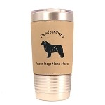 3598 Newfoundland Standing #1 20 oz Polar Camel Tumbler with Lid Personalized with Your Dog's Name