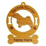 3604 Norfolk Terrier Standing #2 Ornament Personalized with Your Dog's Name