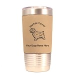 3605 Norfolk Terrier Standing #1 20 oz Polar Camel Tumbler with Lid Personalized with Your Dog's Name