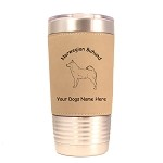 3608 Norwegian Buhund Standing #1 20 oz Polar Camel Tumbler with Lid Personalized with Your Dog's Name
