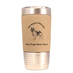 3611 Norwegian Elkhound Standing #1 20 oz Polar Camel Tumbler with Lid Personalized with Your Dog's Name