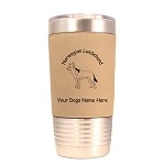 3614 Norwegian Lundehund Standing #1 20 oz Polar Camel Tumbler with Lid Personalized with Your Dog's Name