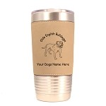 3627 Olde English Bulldogge Standing #1 20 oz Polar Camel Tumbler with Lid Personalized with Your Dog's Name